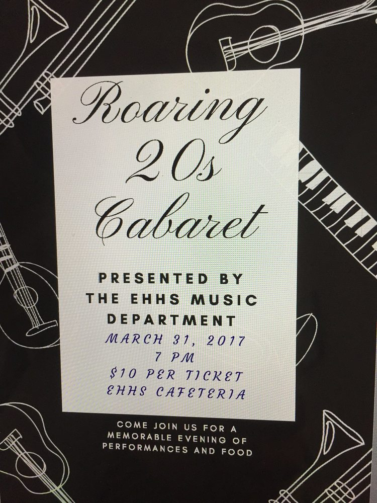 CABARET NIGHT:  Music and Food, March 31