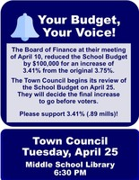 TOWN COUNCIL BUDGET MEETING - April 25