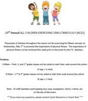 23rd Annual ALL CHILDREN EXERCISING SIMULTANEOUSLY (ACES)