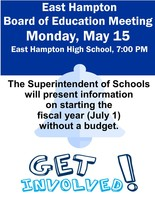 Important Board of Education Meeting - Monday, May 15