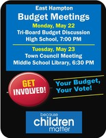 Budget Meetings this Week!