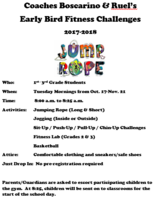 Early Bird Fitness Challenges for Grades 1-3
