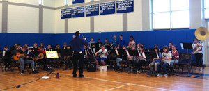 Middle School Band at 1st ever District wide Step-up Concert