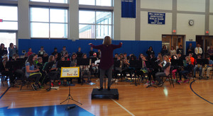 4th and 5th Grade Bands and Chorus perform at Step-up Concert