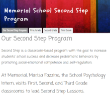 Memorial's Second Step Website