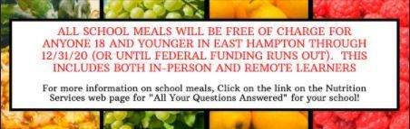 FAQ about Meals Answered