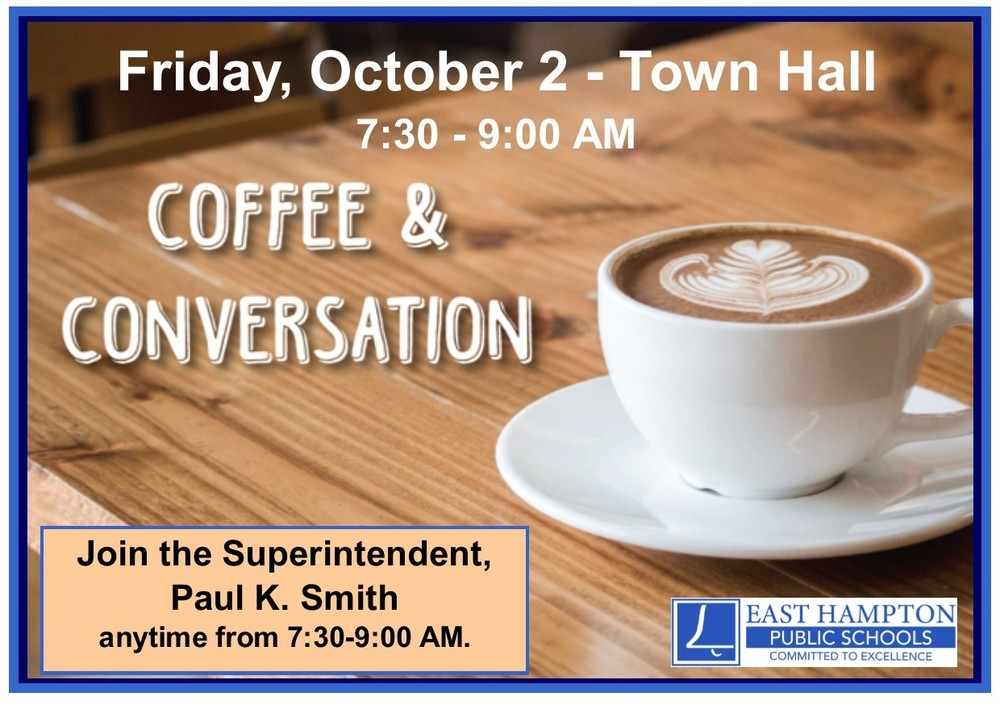 Coffee with the Superintendent - 10/2/20