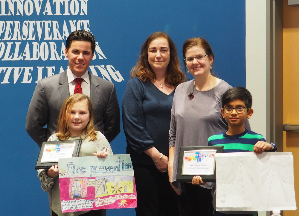 Board of Education recognizes Center Art Students and Retiree