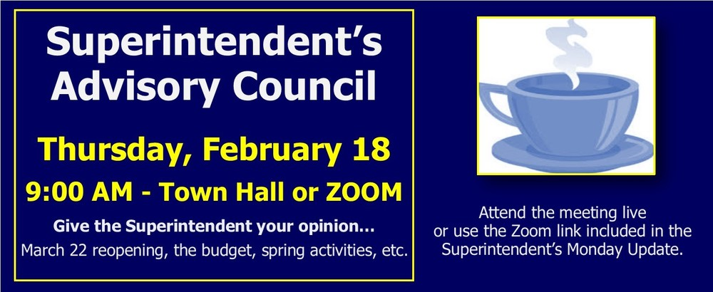 Superintendent's Advisory Council - 2/18/21