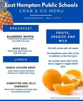 Today's Grab and Go Breakfast and Lunch Menu