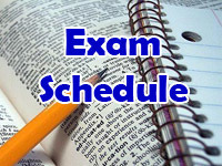 Updated Midterm Exam Schedule