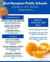 Grab & Go Menu for Friday 5/8