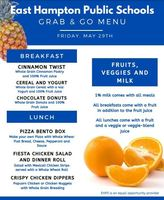Fri. May 29th Grab and Go Menu