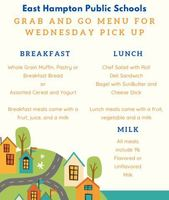 Grab and Go Meal Program details & Menu for Wednesday Pick-up