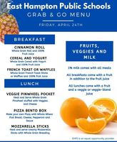 Grab & Go Menus for Friday  4/24