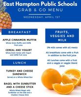 Wed. April 1st Grab and Go Menu
