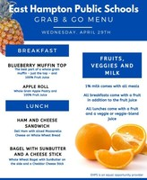 Grab & Go Menus for Wednesday 4/29