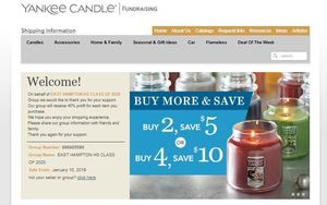 Yankee Candle Fundraiser for the Class of 2020