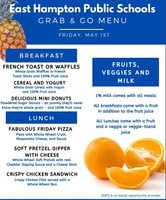 Grab & Go Menu for Friday 5/1