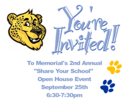 You're Invited to Memorial's Share Your School Event