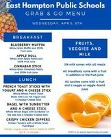 Wed. April 6th Grab and Go Menu