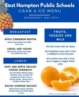 Grab & Go Menu for Wednesday 5/20