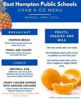 Grab & Go Menus for Monday, 4/20