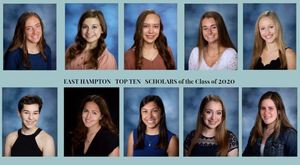 EHHS Announces Top Ten Scholars of the Class of 2020