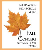 Band and Chorus Fall Concert Thursday, November 15th