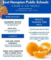 Grab & Go Menus for Wednesday 5/13