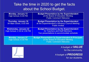 Budget Meetings begin this month!