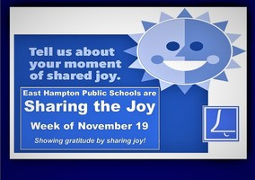 Sharing the Joy - A celebration of thanks in our schools!