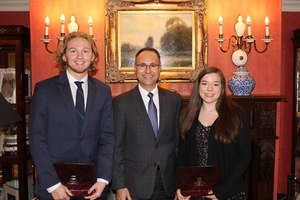 Two Seniors honored by Shoreline Superintendents