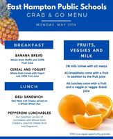Grab & Go Menus for Monday 5/11