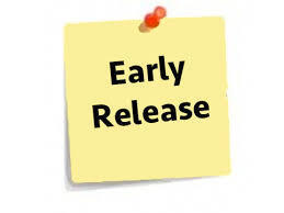 Early Release for Students 3/29/2019